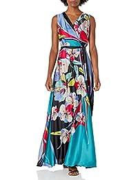 Women's Sleeveless Surplus Tie Waist Maxi Dress