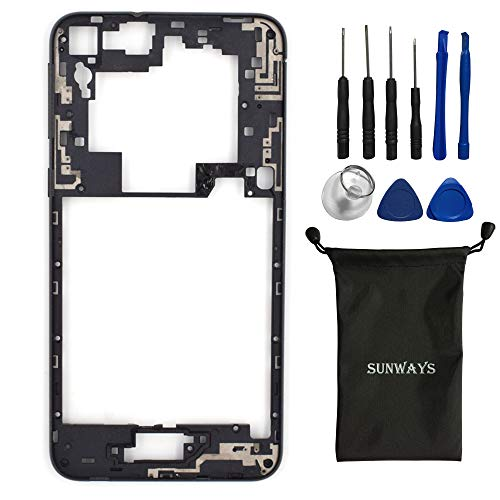 (sunways Mid Frame + Volume Button + Power Button Replacement for HTC One E9s(Roast Chestnut))