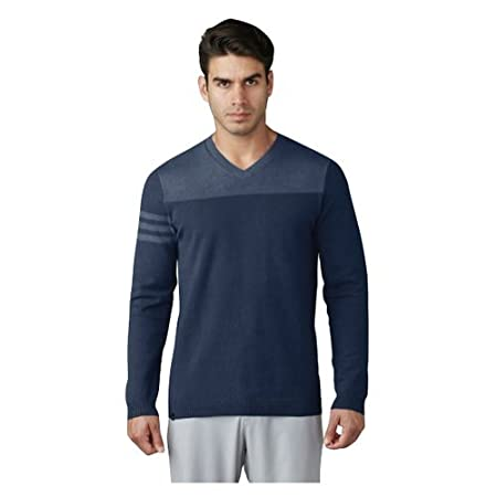 Adidas Stripes hombre 's Club 3 Stripes Adidas V Neck Sweater:: ropa 3f523f