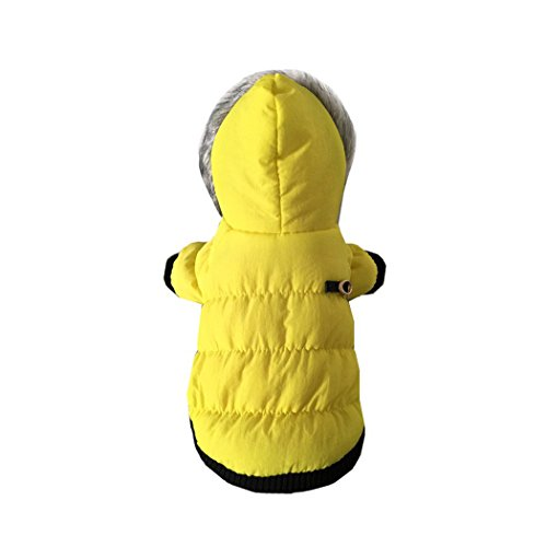 Pet cotton Jacket Coat Winter warm dog puppy hoodie snow suit Chihuahua dog clothes (XL, (Princess Leia Halloween Costume Pattern)