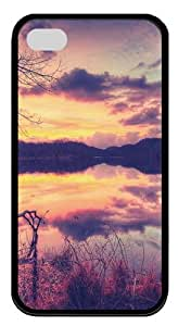 Rednor iPhone 4S Cases & Covers - Lake Custom Design TPU Case Cover for iPhone 4 and iPhone 4S Black