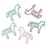 (Price/100 Paper Clips) Horse Shaped Paper Clips, 1 3/8''L x 1 3/16''W-Assorted-1000 Clips