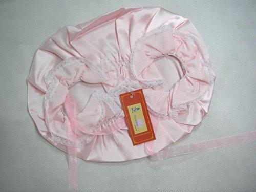 One Real Silk Slumber Cap Sleeping Hat W/ Lace Pink