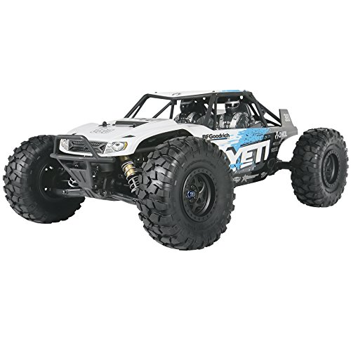 - Axial Yeti 4WD RC Rock Racer Off-Road 4x4 Electric Ready to Run with 2.4GHz Radio and Waterproof ESC, 1/10 Scale RTR