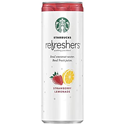 Starbucks Refreshers Peach Passion Fruit Sparkling Juice Blend, 1 Count, 12 oz Can