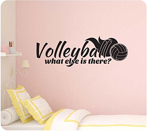 amazoncom 32 volleyball what else is there girl sports wall decal sticker art mural home dcor quote home kitchen - Volleyball Bedroom Decor