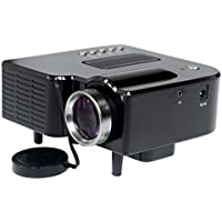 Home Theater LED Mini Projector Full HD Multimedia Cinema USB TV HDMI MT - Black