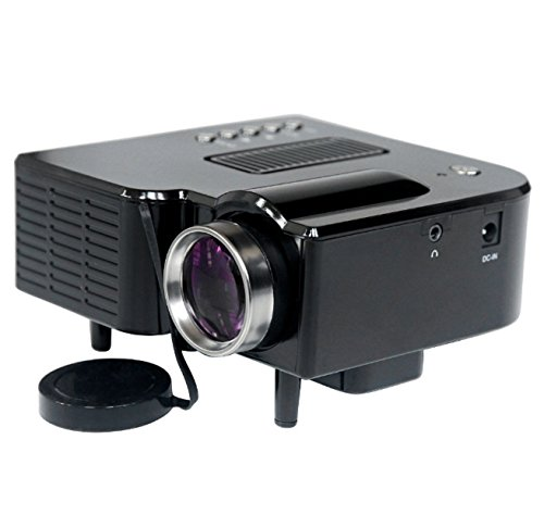 Home Theater LED Mini Projector Full HD Multimedia Cinema USB TV HDMI MT - Black (Direct Tv Halloween Music Channels)