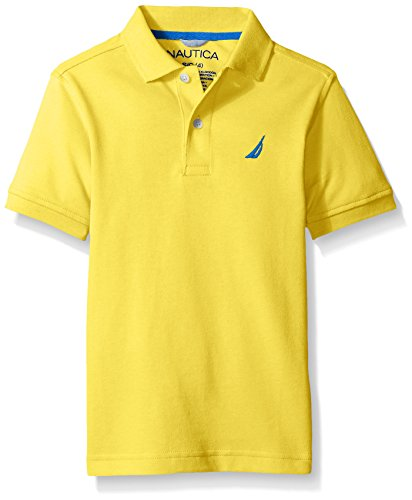 - Nautica Little Boys' Short Sleeve Heritage Pique Polo,DUCKY,Large (7)