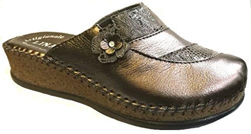 Pantofole Art Lina Ciabatte Donna Piombo 0b0q4 76535 Da 0kwP8nO