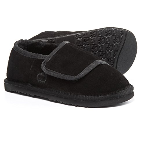 Black Women's Bootie Suede Sheepskin Slipper Wrap Lamo wqxzZ78Yz