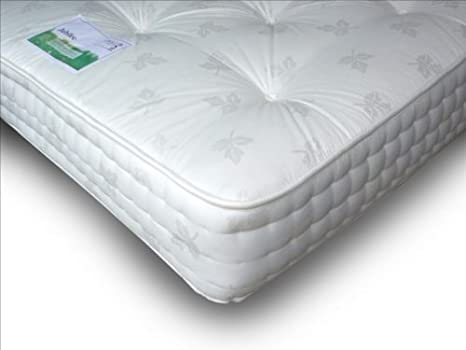Apollo Jubilee 1000 muelles ensacados colchón, tela, Blanco, 4 Sm/Double