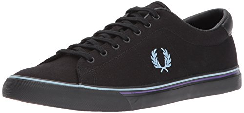 8 Sneaker Fred US Canvas Underspin Perry Black 9 UK D Men's qFIwgYrTI