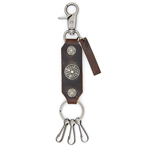 Ramble On Genuine Leather Handmade Keychain – Unique Styles for Bikers, Cowboys, Punks, Goths and Everybody in Between -Shield Style for All of You Wh…
