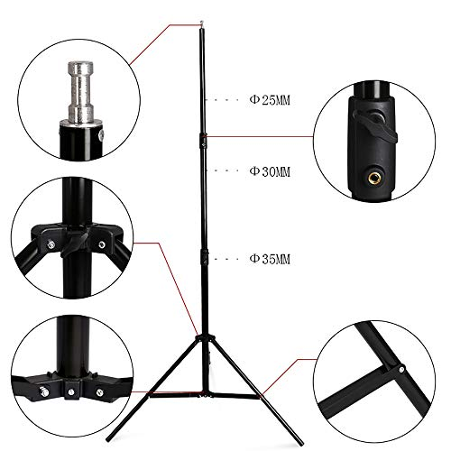 Telescopic Tube Background Support Pole Stand, 9 x 10FT Heavy Duty Background Stand Backdrop Support System Kit Carry Bag Photography Photo Video Studio by SH (Image #2)