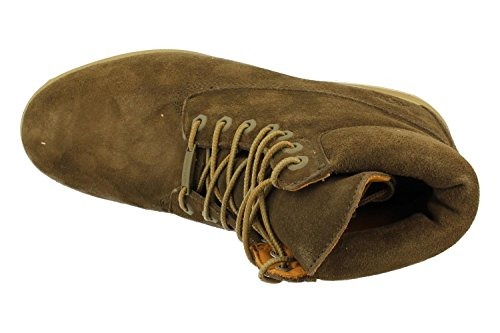 Timberland A18PZ Icon 6-inch Premium Boot Dark Olive Silk Suede, Botines con cordones para hombre