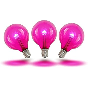 Amazon.com : Novelty Lights 25 Pack G40 LED Outdoor String Light Patio Globe Replacement Bulbs