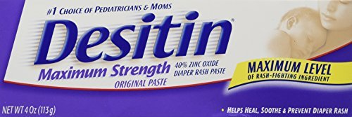 Desitin Baby Diaper Rash Maximum Strength Original Paste 4.8 oz. (6 Pack) by Desitin