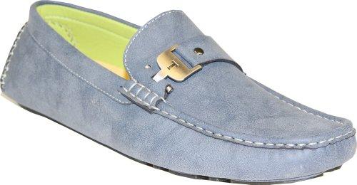 Coronado Hommes Casual Chaussure Moc-5 Mocassin De Conduite Avec Des Orteils Cousus Et Des Détails De Boucle Gris