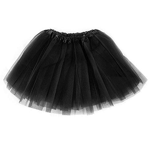 Xuzirui Girls Tutu Skirt Classic Elastic 4 Layered Tulle Tutu Skirt for Dress-up Parties Ballet Dancing 2-8 Years