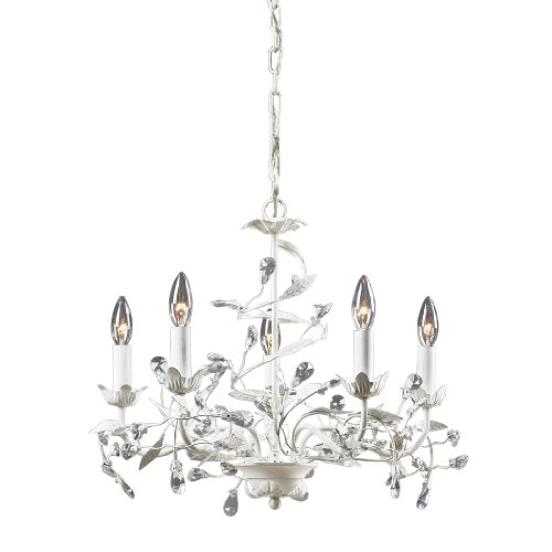 Elk Lighting 18113/5 Circeo Five Light Chandelier, Antique White