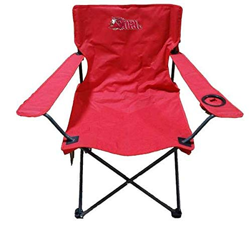Aromzen Jacksonville State University Adult Chair -Tailgate Camping (Jacksonville Furniture Outdoor)