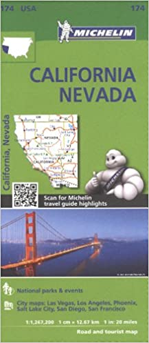 Michelin USA California, Nevada Map 174 Michelin Zoom USA ...