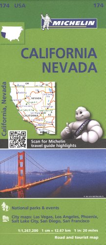 Michelin USA California, Nevada Map 174 (Michelin Zoom USA Maps)