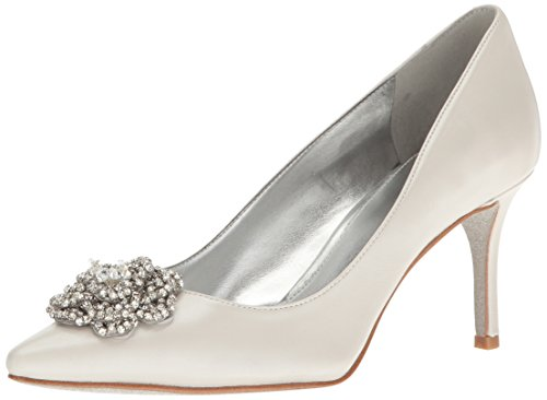 Nine West Women's Maolisa Satin Dress Pump - Silver - 5 B...