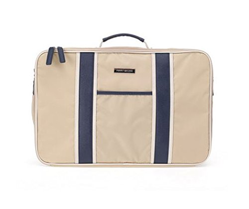 perry-mackin-water-resistant-nylon-weekender-bag-beige-nylon-with-faux-leather-navy-trim