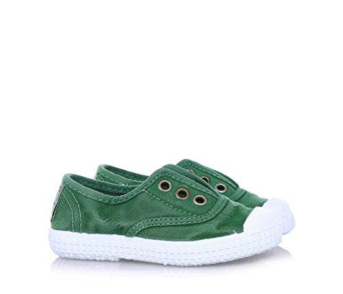 Cienta 70777 21/27 color beige unisex zapatos de la tela elástica Verde