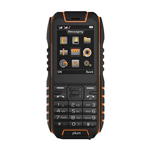 Rugged Cell Phone Unlocked GSM  Waterproof Shockproof Powerful Battery Flashlight Military Grade IP68 Certified Black Orange