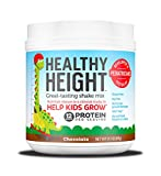 Healthy Height Kids Protein Shake Mix (Chocolate). Great Tasting and Doctor Developed Nutritional Drink that Helps Kids Grow with 12 g Protein, Vitamin C and Zinc. Gluten Free and Soy Free. (21.7 oz)