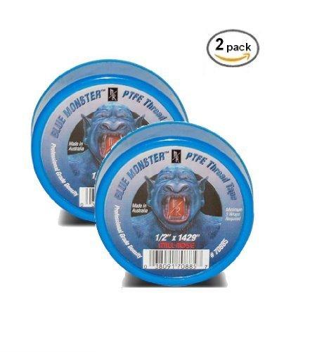 2 PACK- Milrose 70885 Blue Monster 1/2'' x 1429' Blue Teflon Tape
