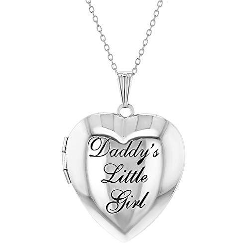 In Season Jewelry Photo Locket Girls Heart Pendant Necklace Daddy's Little Girl 19