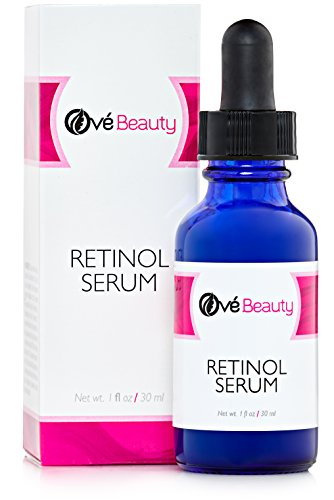 Retinol Anti Wrinkle Facial Serum with Hyaluronic Acid| Best Face Serum to Help Reduce Wrinkles, Crows Feet, Fine Lines and Age Spots