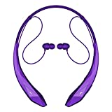 Bluetooth Headphones Headset Rymemo Newest Design Wireless Music Earphones Stereo Earbuds Sports/running Magnetic Neckband Style Shine Like Diamond Surface for Cellphone, Purple