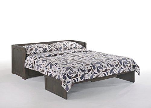 Night & Day Furniture MUR-CUB-QEN-STW-COM Murphy Cube, Queen, Stonewash
