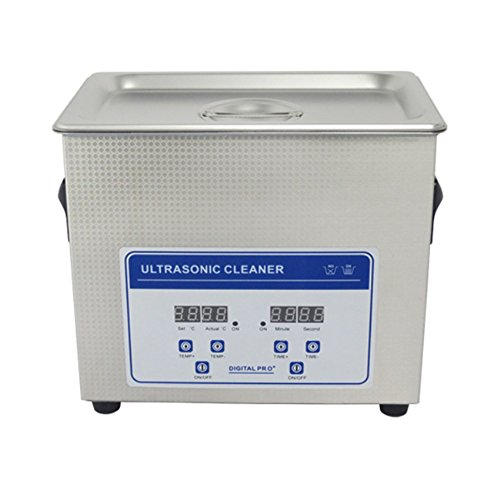 3.2L Professional Digital Ultrasonic Cleaner Machine with Timer Heated Stainless steel Cleaning tank 110V/220V by Jiuzhoutongshang