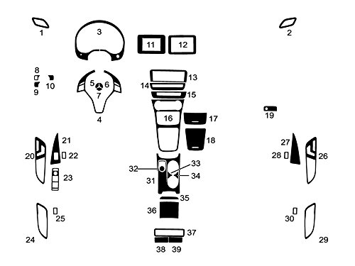 Rvinyl Rdash Dash Kit Decal Trim for Mercedes CLA-Class/GLA-Class 2014-2017 - Wood Grain (Mahogany)