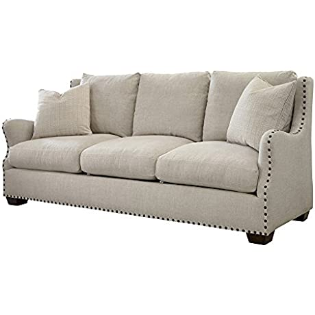 Universal Furniture Connor Upholstered Sofa In Linen