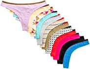 Beyond Intimates - Tangas de algodón para mujer (12 unidades)