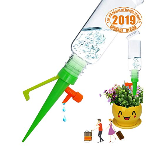 (House Indoor Plant Automatic Self Watering Spike Drip Control Devices Adjustable Bottle Mount Irrigation Drip Last 20 Days with Slow Release Controller Garden Tools Vocation Travel (6PCS-Green pack) )