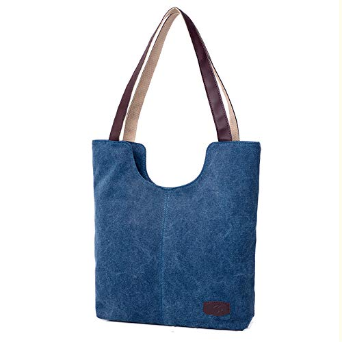 Shoulder Blue Bag Handbag Dark cdnb bandolera Bag Bag Ladies Canvas Retro Retro Bolsos Shoulder InnOTqxt