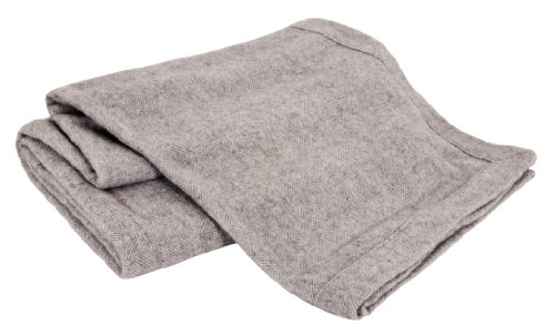 Creswick Luxurious All-Natural Alpaca/Lambswool Oversized Blanket Herringbone Grey
