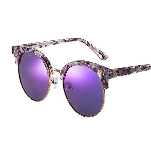 Púrpura De Sol Viento Aire Medio Protección De Diseño Decoración Cuadro C Mármol Violet Uv LLZTYJ Cumpleaños Mujer Párrafo Gafas Gafas C De Regalo Sol De Sol Libre Masculino Gafas Al ExWq8tvpOw