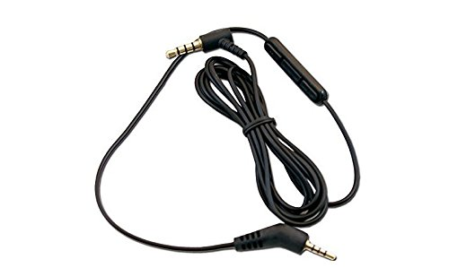 Replacement 1.2m Inline Remote Mic Microphone Cable for Bose QuietComfort 3 QC 3 QC3 Acoustic Noise Cancelling Headphones