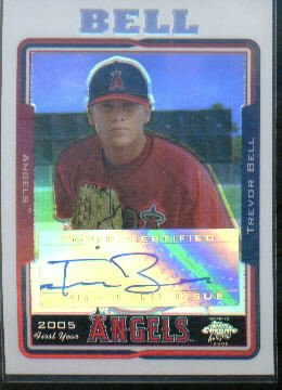 2005 Topps Chrome Update Refractors #221 Trevor Bell FY Autograph Card Serial #'d/500
