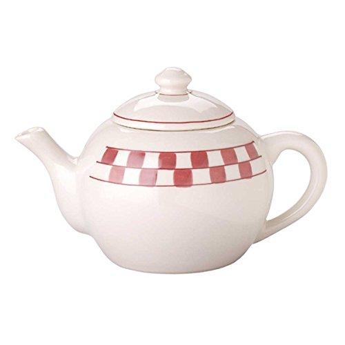 Teapots White Stoneware Teapot Checkmate product image