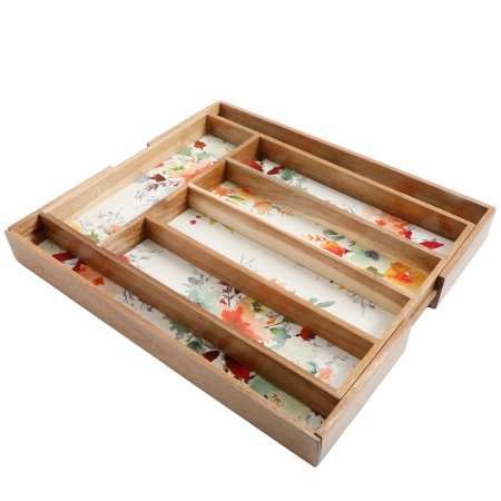 The Pioneer Woman Willow Expandable Cutlery Tray